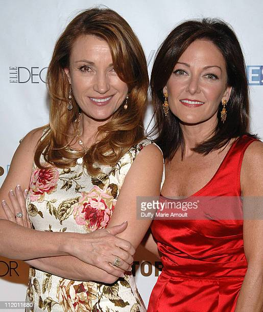 Jane Seymour and Margaret Russell during Bravo's Top Design Finale Party Hosted by Todd Oldham at W HOTEL in New York City New York United States