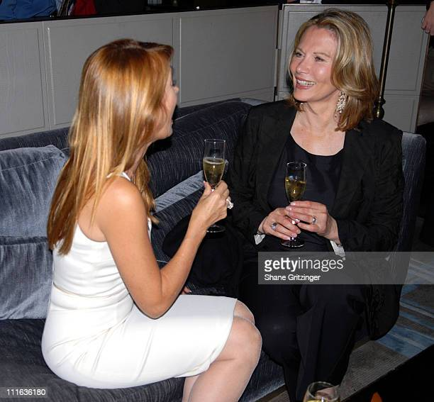 Jane Seymour and Maud Adams during Shaken Not Stirred Bond Girls Reunite to Celebrate Delta Airlines Newest International Route Between New York and...