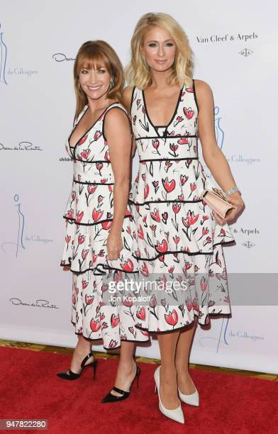 Jane Seymour and Paris Hilton attend The Colleagues And Oscar de la Renta's Annual Spring Luncheon at the Beverly Wilshire Four Seasons Hotel on...