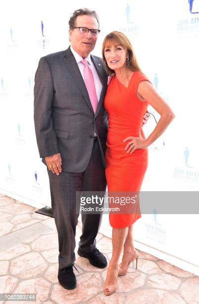 Jane Seymour and Patrick Wayne attend John Wayne Cancer Institute Auxiliary Annual Membership Luncheon Boutique at Beverly Hills Hotel on October 17...
