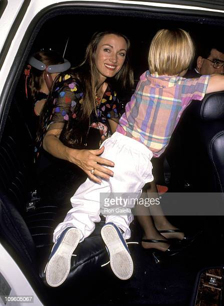 Jane Seymour and Son Sean Flynn during Universal Studios Private Party at the Grand Cypress Resort - June 6, 1990 at Grand Cyprus Resort in Orlando,...