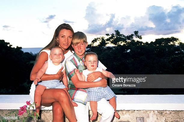 Jane Seymour and sons Kristopher Keach Sean Keach and John Keach Jane Seymour Barbados Shoot Barbados