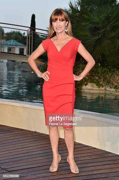 Jane Seymour arrives at a party during the 54th Monte-Carlo Television Festival at Monte-Carlo Bay Resort on June 8, 2014 in Monte-Carlo, Monaco.