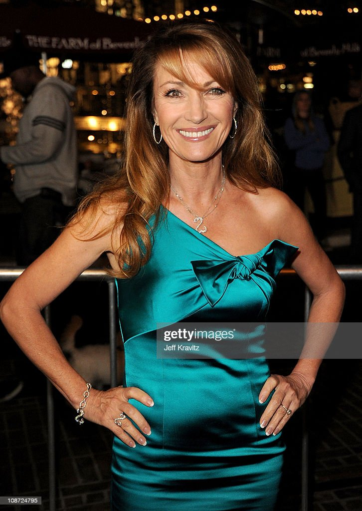 Jane Seymour arrives at the Los Angeles premiere of 'Waiting for Forever' held at Pacific Theaters at the Grove on February 1, 2011 in Los Angeles, California.