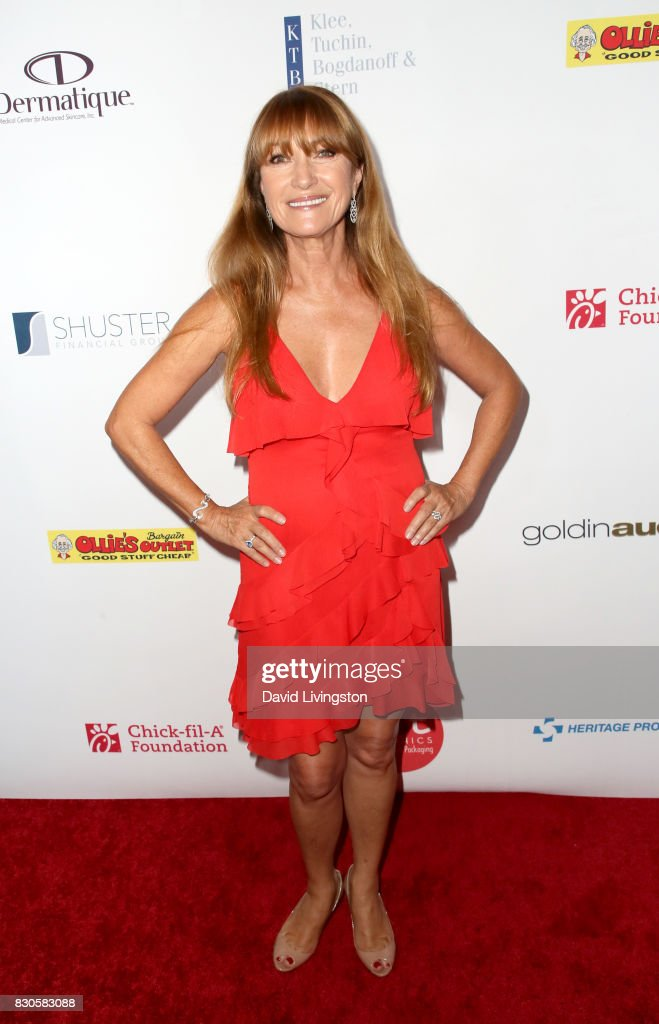 Jane Seymour at the 17th Annual Harold & Carole Pump Foundation Gala at The Beverly Hilton Hotel on August 11, 2017 in Beverly Hills, California.