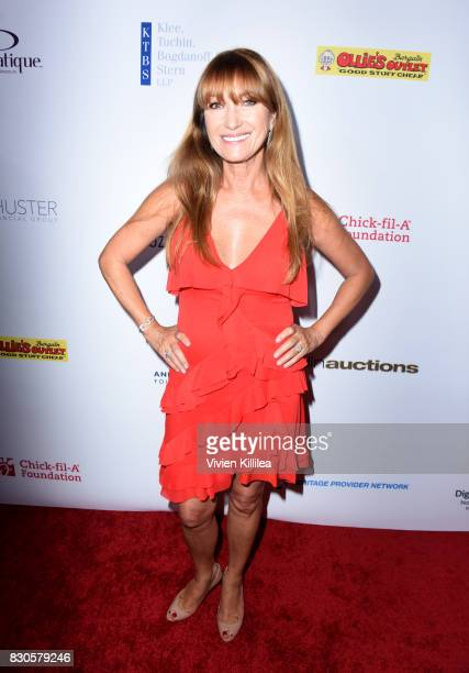 Jane Seymour attends the 17th Annual Harold Carole Pump Foundation Gala at The Beverly Hilton Hotel on August 11 2017 in Beverly Hills California