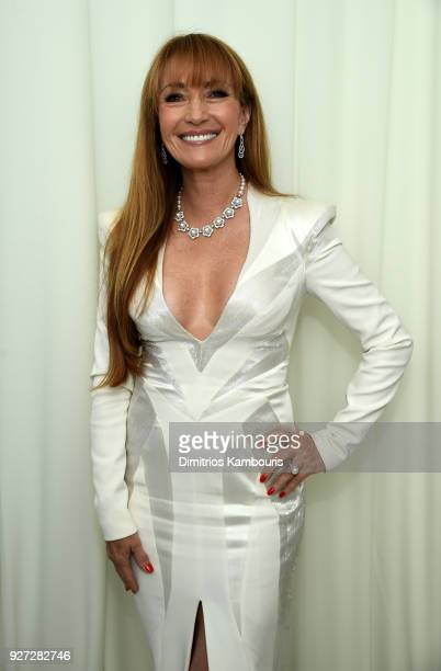 Jane Seymour attends the 26th annual Elton John AIDS Foundation Academy Awards Viewing Party sponsored by Bulgari celebrating EJAF and the 90th...