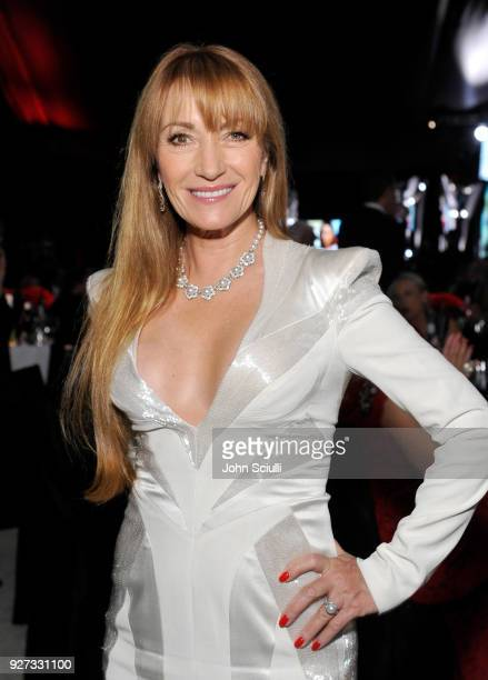 Jane Seymour attends the 26th annual Elton John AIDS Foundation Academy Awards Viewing Party at The City of West Hollywood Park on March 4 2018 in...