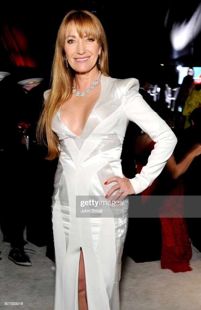 Jane Seymour attends the 26th annual Elton John AIDS Foundation Academy Awards Viewing Party at The City of West Hollywood Park on March 4, 2018 in West Hollywood, California.