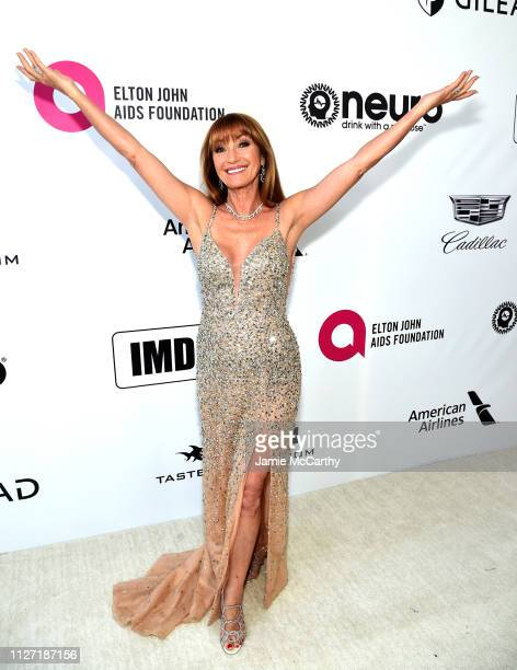 Jane Seymour attends the 27th annual Elton John AIDS Foundation Academy Awards Viewing Party sponsored by IMDb and Neuro Drinks celebrating EJAF and...