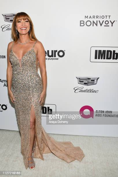 Jane Seymour attends the 27th annual Elton John AIDS Foundation Academy Awards Viewing Party celebrating EJAF and the 91st Academy Awards on February...