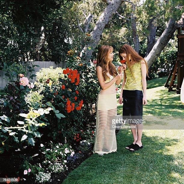 Jane Seymour daughter Katie Flynn Jane Seymour Photo Shoot Malibu Home Malibu California