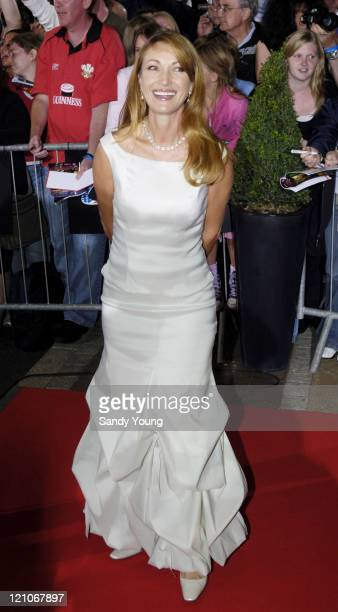 Jane Seymour during The Northern Rock All Star Charity Gala Red Carpet at Celtic Manor Resort in Newport Great Britain