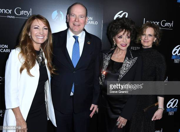 Jane Seymour HSH Prince Albert II Joan Collins and Anne Sweeney Hosts 60th Anniversary Party For The MonteCarlo TV Festival at Sunset Tower Hotel on...