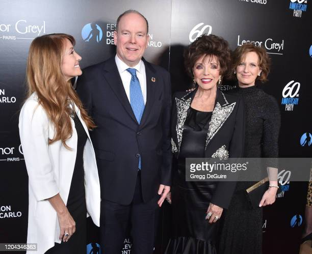 Jane Seymour HSH Prince Albert II Joan Collins and Anne Sweeney attend the 60th Anniversary Party For The MonteCarlo TV Festival at Sunset Tower...
