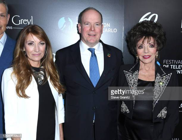 Jane Seymour HSH Prince Albert II Of Monaco and Joan Collins Hosts 60th Anniversary Party For The MonteCarlo TV Festival at Sunset Tower Hotel on...