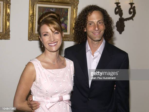 Jane Seymour Kenny G during Jane Seymour and James Keach Host City Hearts Eighth Annual Truffle Dinner at Private Residence in Malibu California...
