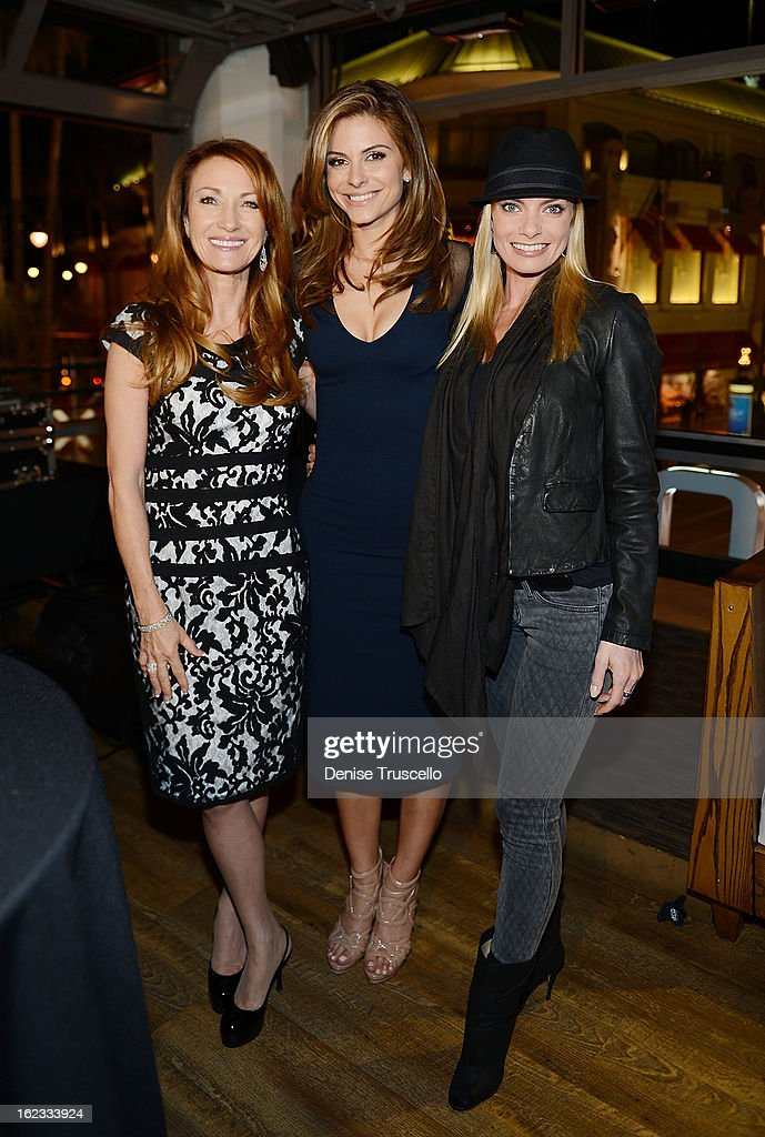 Jane Seymour, Maria Menounos and Jaime Pressly attend the Have A Heart benefit for organ donor recipients and their families at Mixology LA at the Farmers Market on February 21, 2013 in Los Angeles, California.