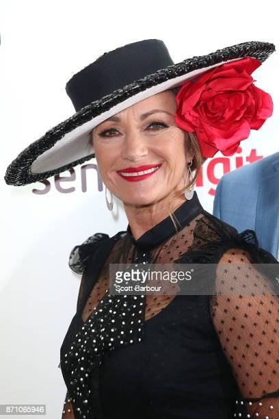 Jane Seymour poses at the Sensis Marquee on Melbourne Cup Day at Flemington Racecourse on November 7 2017 in Melbourne Australia