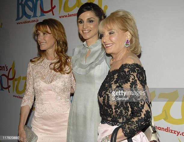 Jane Seymour Queen Rania AlAbdullah of Jordan and Barbara Walters