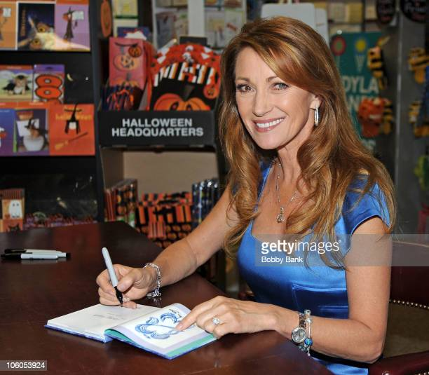 Jane Seymour signs copies of her book Among Angels at Books Greetings on October 25 2010 in Northvale New Jersey