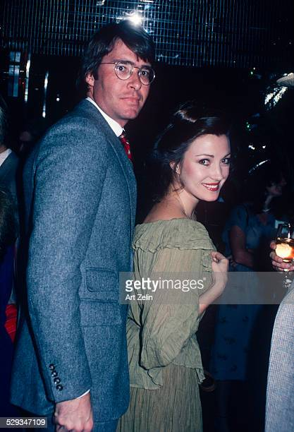 Jane Seymour with her husband David Flynn at a party circa 1970 New York