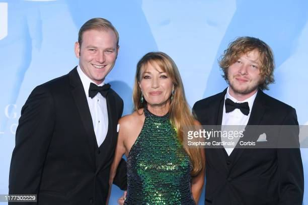 Jane Seymour with her sons Kris Keach and John Keach attends the Gala for the Global Ocean hosted by HSH Prince Albert II of Monaco at Opera of...