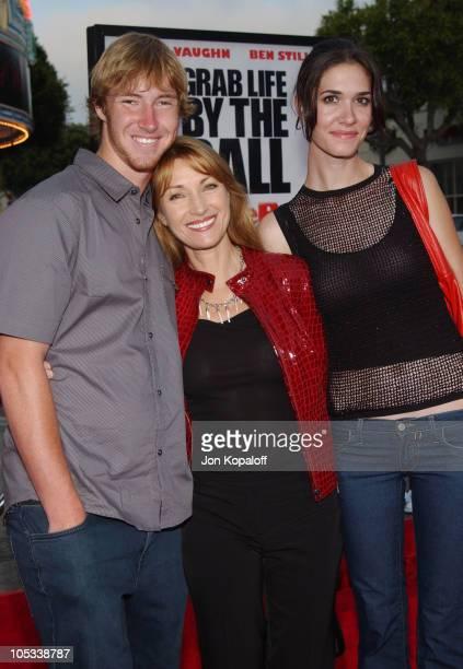 Jane Seymour with son Sean Flynn and daughter Jenni Flynn
