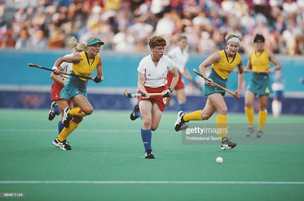 Jane Sixsmith Of Great Britain Pictured In Action Making A Run With The Ball During