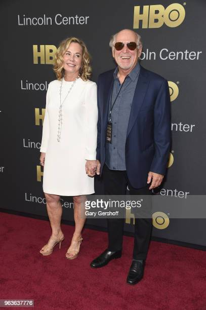 Jane Slagsvol and Jimmy Buffett attend the 2018 Lincoln Center American Songbook gala honoring HBO's Richard Plepler at Alice Tully Hall Lincoln...
