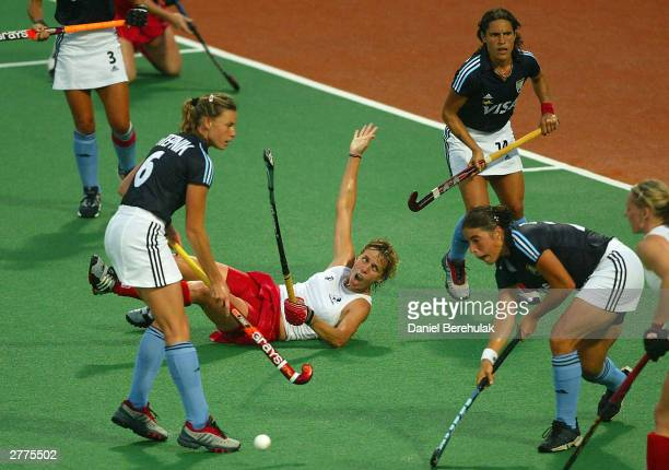 Jane Smith of England appeals for a penalty during the BDO Hockey Champions Trophy match between England and Argentina at the Sydney Olympic Park...