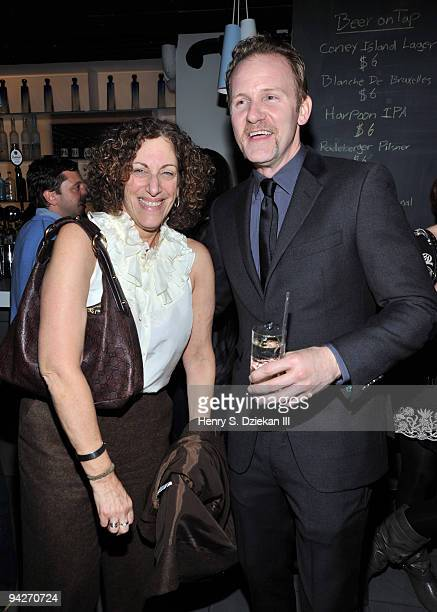 Jane Stevens and Morgan Spurlock attend the Warrior Poets' 5th anniversary party at SPiN New York on December 10 2009 in New York City