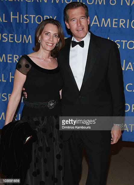 Jane Stoddard and Brian Williams arrive at the 2007 Museum Gala at the American Museum of Natural History on November 15 2007 in New York City