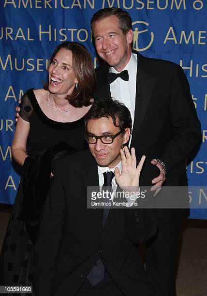 Jane Stoddard Fred Armisen and Brian Williams arrive at the 2007 Museum Gala at the American Museum of Natural History on November 15 2007 in New...