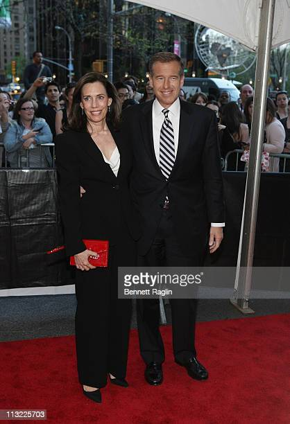 Jane Stoddard Williams and Brian Williams attend the TIME 100 Gala on April 26 2011 in New York City