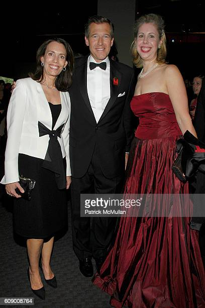 Jane Stoddard Williams, Brian Williams and Nancy Gibbs attend TIME Magazine's 100 Most Influential People 2007 at Jazz at Lincoln Center on May 8,...