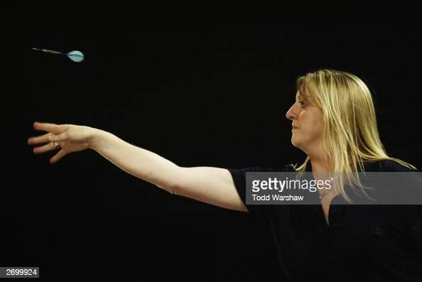 Jane Stubbs in action during the Las Vegas Desert Classic II Darts ...