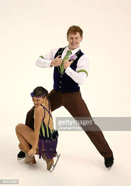 Jane Summersett and Todd Giles of the United States skate during the original dance routine during day 2 of 2008 Skate America at the Comcast Arena...