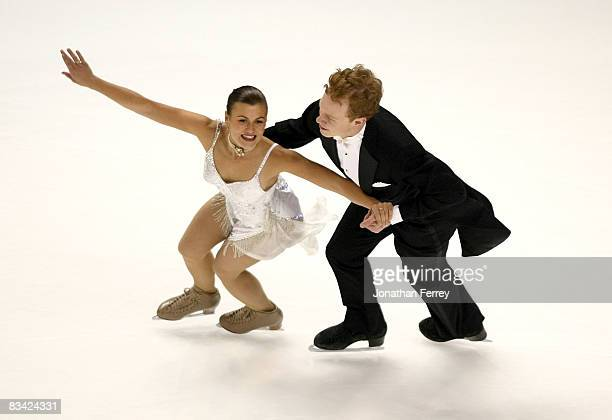 Jane Summersett and Todd Gilles of the United States perform the compulsory dance routine during the day 1 of 2008 Skate America at the Comcast Arena...