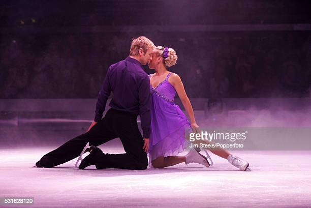 Jane Torvill and Christopher Dean perform during the 'Dancing on Ice - The Bolero 25th Anniversary Tour' at Wembley Arena in London on the 10th...