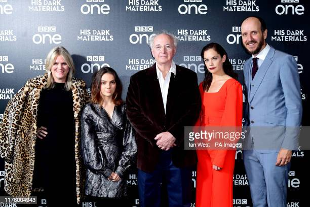 Jane Tranter, Dafne Keen, Philip Pullman, Ruth Wilson and Jack Thorne attending the premiere of His Dark Materials held at the BFI Southbank, London.