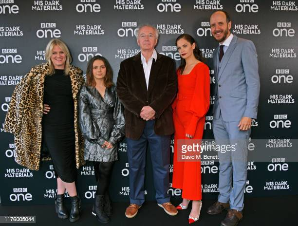 "Jane Tranter, Dafne Keen, Sir Philip Pullman, Ruth Wilson and Jack Thorne attend the Global Premiere of HBO and BBC's ""His Dark Materials"" at BFI..."
