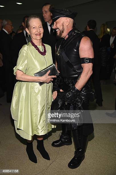 Jane Trapnell and Peter Marino attend the Guggenheim International Gala Dinner made possible by Dior on November 6, 2014 in New York City.