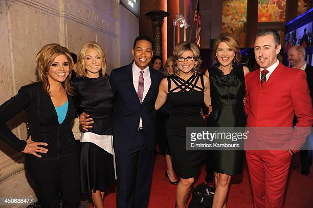 Jane VelezMitchell Kelly Ripa Don Lemon Ashleigh Banfield Christine Romans and Alan Cummings attends 2013 CNN Heroes An All Star Tribute at the...