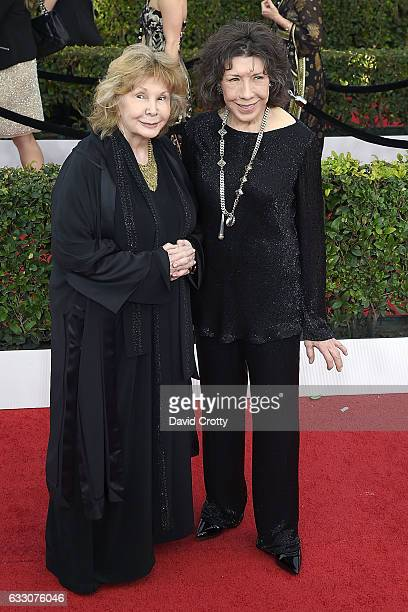 Jane Wagner and Lily Tomlin attend the 23rd Annual Screen Actors Guild Awards Arrivals at The Shrine Expo Hall on January 29 2017 in Los Angeles...