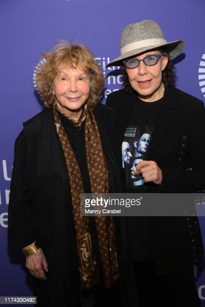 Jane Wagner and Lily Tomlin attend Two Free Women Lily Tomlin Jane Wagner at Lincoln Center on September 12 2019 in New York City