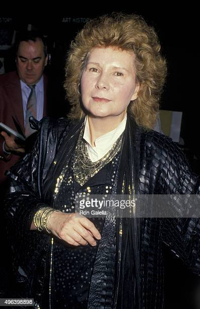 Jane Wagner attends Fannie Flagg Book Party on November 10 1987 at Hunter's Book in Beverly Hills California