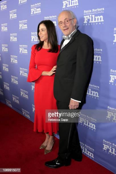Jane Walker Wood and Christopher Lloyd attend Santa Barbara International Film Festival's Kirk Douglas Award Honoring Hugh Jackman at The RitzCarlton...