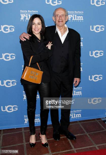 Jane Walker Wood and Christopher Lloyd attend the 34th annual Santa Barbara International Film Festival Virtuosos Award Ceremony at Arlington Theater...