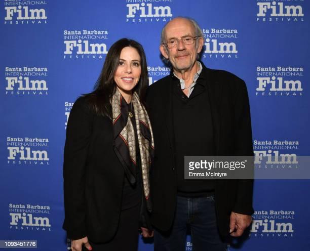 Jane Walker Wood and Christopher Lloyd attend the Maltin Modern Master Award Honoring Glenn Close during the 34th Santa Barbara International Film...